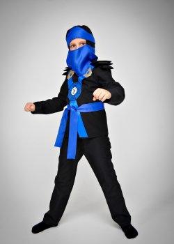 Костюм карнавальный DM SASHKA Ниндзяго синий 110-116 черно-синий