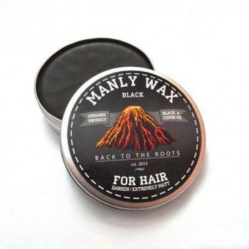 Чоловічий віск для волосся «black», MANLY, 100 мл