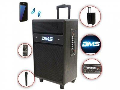 Колонка аккумуляторная DMS K10-12MS Bluetooth, USB, MP3, Wireless LED