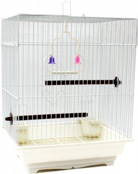 Клетка для птицы ZooMax Белая 30 x 23 x 39 см (23327) (4820097809050)