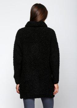 Півпальто Kontatto чорне Over Size (3M1636-Ч)