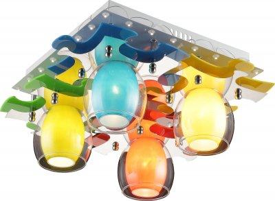 Стельовий світильник Altalusse INL-9319C-04 White & Multicolor Е14 4х40W+LED