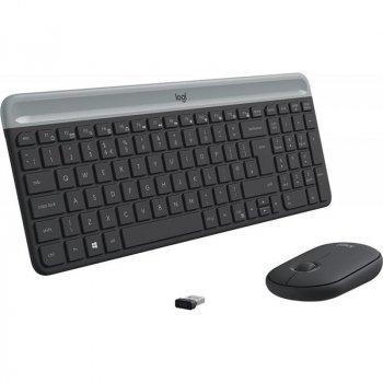 Комплект (клавіатура, миша) Logitech MK470 Wireless Slim Graphite (920-009206)