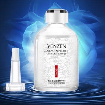Антивозрастная сыворотка тонер с коллагеном venzen collagen protein. 50 ml.(0143)