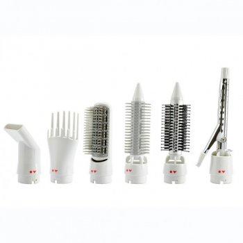 Фен-щетка воздушный стайлер для волос концентратор щипцы расческа 7 в 1 Gemei GM-4836
