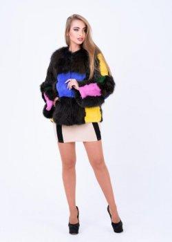 Полушубок BG-Furs из лисы Розноцветный Разноцветный