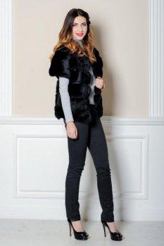 Шуба BG-Furs короткая из кролика Черная