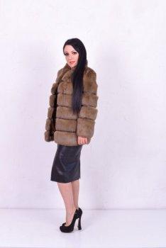 Шуба BG-Furs из кролика Какао