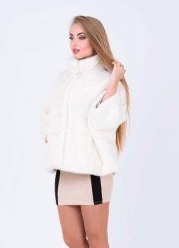 Шуба BG-Furs летучая мышь норковая Белая