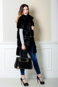 Полушубок BG-Furs из кролика Черный