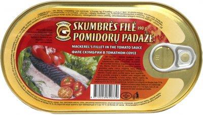 Скумбрия Baltijos konservai филе в томатном соусе 190 г (4779026840339)