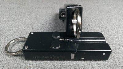 Револьвер под патрон Флобера - брелок Mig 2 1,5 d (двухзарядный, удлиненный) черный