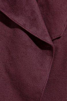 Пальто H&M 0300908 Бордовое