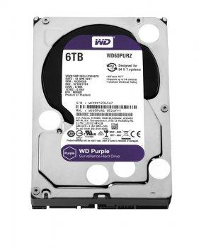 Накопичувач HDD SATA 6.0 TB WD Purple 5400rpm 64MB (WD60PURZ)