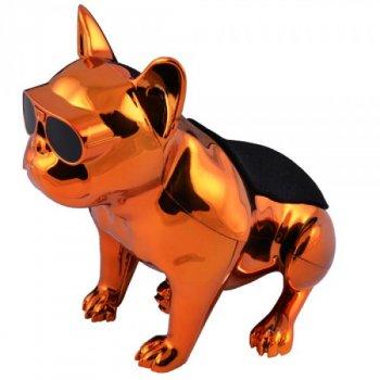 Bluetooth-колонка Aerobull Dog Metallic S5 сенсорне управління і компактні розміри (золотий)