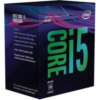 Процесор CPU Core i5-8400 6 ядер, 2.80 GHz, 8 GT/s DMI, Intel UHD 630, L2: 6x256KB, L3: 9MB, 14nm, 65W, Coffee Lake (BX80684I58400) Box