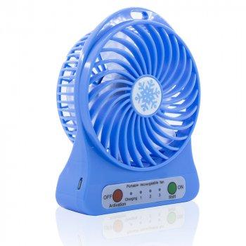 Портативный мини вентилятор Portable Mini Fan XSFS-01 USB Настольный Синий (3288)