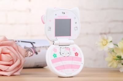 Дитячий міні мобільний телефон Hello Kitty T99 Mini Білий (MM1045)