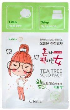 Маска для лица 3-х шаговая Clenia Solo Pack Woman Tea Tree 3 Step Mask 28 мл (8809464950300)