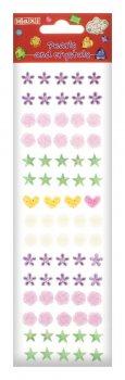 Перлини та стрази Maxi самоклейні Асорті перлини, серця, квіти (MX61605-18)