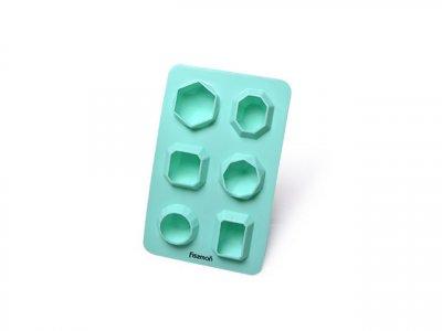 Форма для льда Fissman силиконовая 6 ячеек 16.5х10.5х3см Голубая (6567)