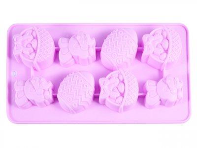 Форма для льоду Fissman силіконова 8 клітинок 20.8х10.8х1.8см Рожева (6553)