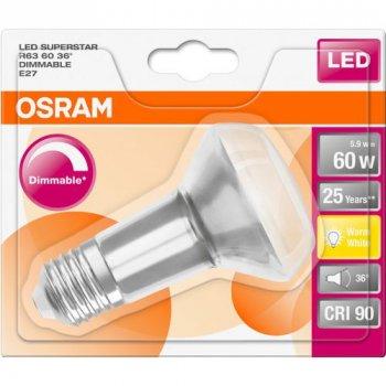 Лампа світлодіодна Osram LED Superstar FIL R63 DIM 5.9 W 2700К E27 (OS 4058075097087)