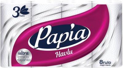 Паперові рушники Papia 3 шари 8 рулонів (8690536011063)
