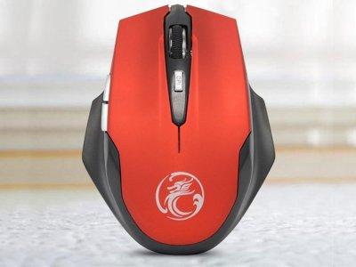 Мышка Imice E-1800 USB 2,0 2,4 ГГц беспроводная Красный (1005-814-03)