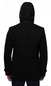 Пальто чоловіче з капюшоном Мадрид Кашемір Чорний