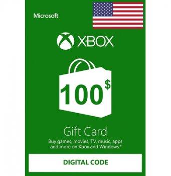 Подарункова карта Xbox Live / Gift Card поповнення гаманця (рахунки) свого аккаунта на суму 100 usd, US-регіон