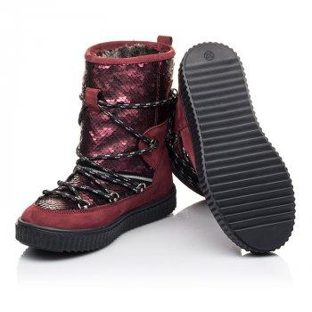 Зимние сапоги на меху Woopy Fashion бордовый (4495)