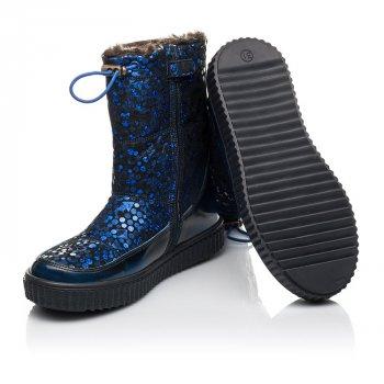 Зимние сапоги на меху Woopy Orthopedic синий (4469)