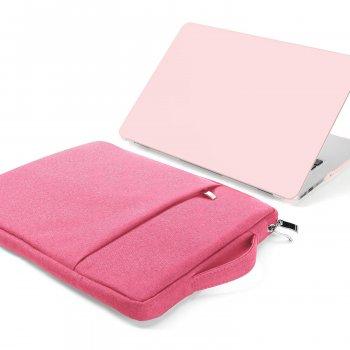 Сумка чохол для ноутбука DDC для MacBook Air Pro 15.6 Рожева (DDC121)
