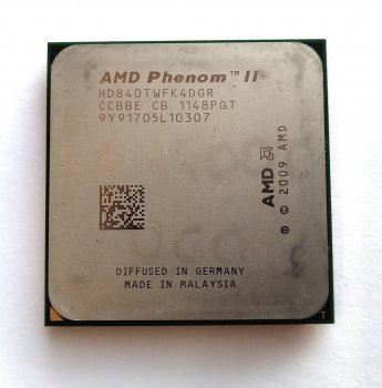Процесор AMD Phenom II x4 840T 2.9 GHz sAM3 Tray 95w (HD840TWFK4DGR) Zosma Б/У