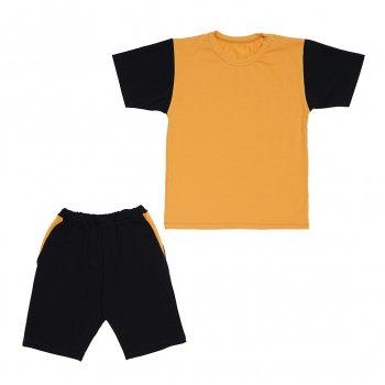 Костюм Sofushka (футболка+шорти) чорний з гірчичним 140