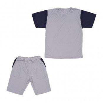 Костюм Sofushka (футболка+шорти) сірий з синім 134