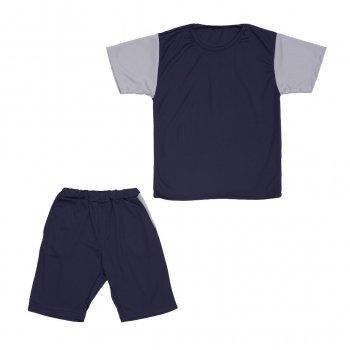 Костюм Sofushka (футболка+шорти) синій з сірим 134