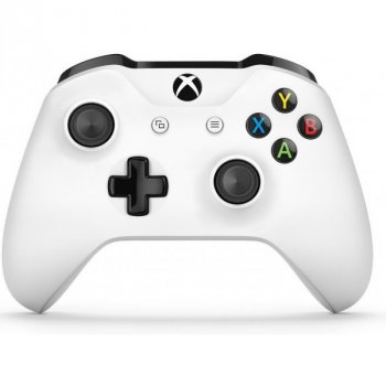 Microsoft Xbox One S Wireless Controller with Bluetooth (White) + Bluetooth адаптер