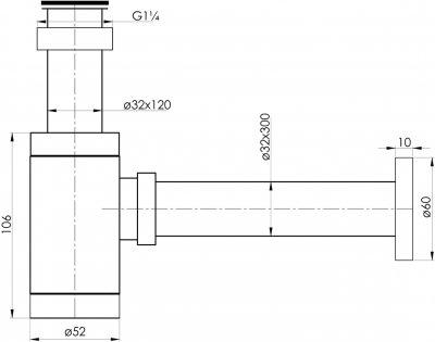 Сифон для раковины IMPRESE Hydrant ZMK031806600