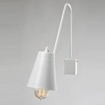 Бра для вітальні, спальні, вітальні, офісу, прихожої, кафе 3501-1 сталь білий/сірий білий PikArt
