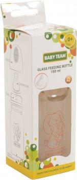 Бутылочка для кормления стеклянная Baby Team 0+ 150 мл (4824428012102)