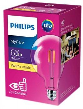 Світлодіодна лампа Philips Filament LED Classic 6-60W G120 E27 830 CL NDAPR (929001975108)