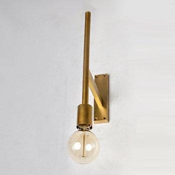 Бра для вітальні, спальні, офісу, кухні, передпокої, кафе 3815-1 латунь золотистий PikArt