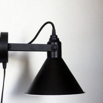 Бра для вітальні, спальні, офісу, кухні, передпокої, кафе Buco clip 5495 сталь чорний PikArt