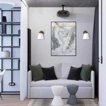 Бра для вітальні, спальні, вітальні, офісу, прихожої, кафе 3145-1 сталь білий/сірий коричневий PikArt