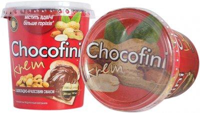 Паста Chocofini Krem с шоколадно-арахисовым вкусом 400 г (4820186340211)