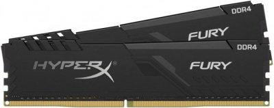 Оперативна пам'ять HyperX DDR4-2666 65536MB PC4-21328 (Kit of 2x32768) Fury Black (HX426C16FB3K2/64)