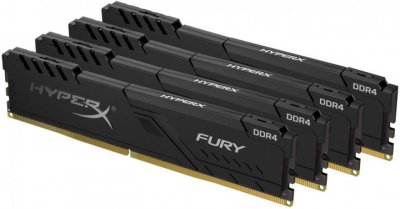 Оперативна пам'ять HyperX DDR4-3200 131072 MB PC4-25600 (Kit of 4x32768) Fury Black (HX432C16FB3K4/128)