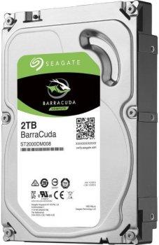 "Жорстку диск HDD 2TB Seagate Barracuda 3.5"", SATA-3, 7200rpm, 256MB (ST2000DM008)"